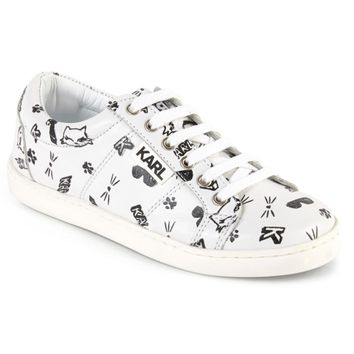 Karl Lagerfeld Girls Choupette Leather Sneakers