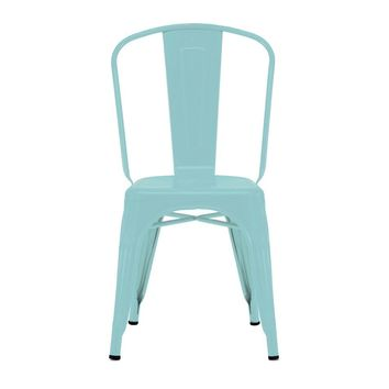 Sundsvall Stackable Matte Cyan Steel Side Chair (Set of 4)