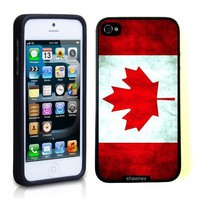 Iphone 5 5S Case Thinshell Case Protective Iphone 5 5S Case Shawnex Canada Canadian Flag Grunge Distressed