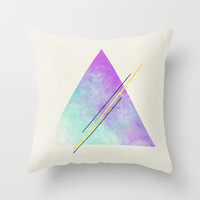 Triangle  Throw Pillow by Allyson Johnson