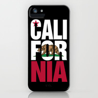 California Bear Flag Typography iPhone Case by RexLambo | Society6