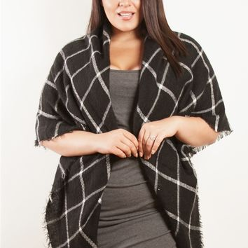 Plus Size Accessories | Black and White Wrap | Swakdesigns.com