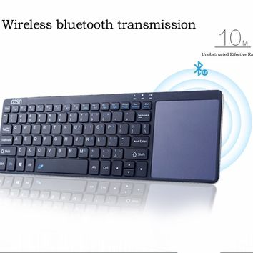 Gosin® Ultrathin All in One Metal Wireless Bluetooth Keyboard Touchpad for Windows Android IOS, 2ND GENERATION OF UPDATED VERSION
