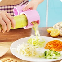 Dual Size Spiral Vegetable Cutter Ribbon Noodle Slicer Useful Kitchen Tool Cheap Price Hot Selling