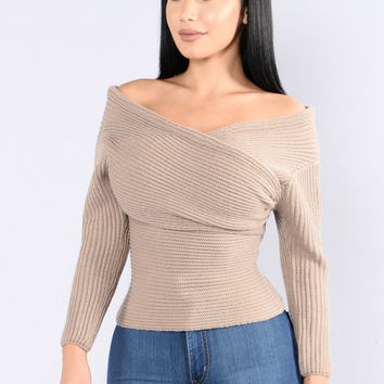 Criss Cross Sweater - Mocha