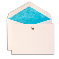 Petite Fox Correspondence Set, Gold, Set of 10, Stationary Sets