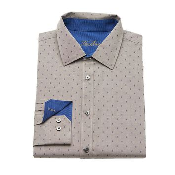 Van Heusen Studio Slim-Fit Patterned Button-Down Shirt