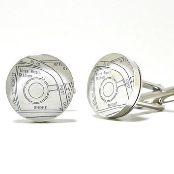 Pittsburgh Steelers Sports Enthusiast Map Cufflinks