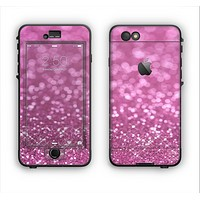 The Pink Unfocused Glimmer Apple iPhone 6 Plus LifeProof Nuud Case Skin Set
