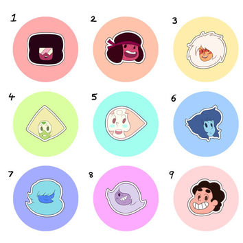 Sticker Set: Gem Points Steven Universe