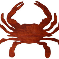 Wooden Crab (Gun Stock Red) / Wall Decor