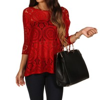 Sale-burgundy Bali Dolman Top