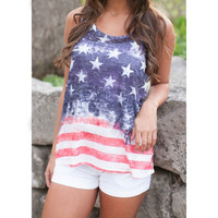 4th July T shirt Women Tops Stars and Stripes