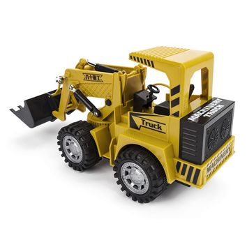 HELIWAY RC Truck Wheel Excavator Motorized Pressure Road Vehicle Simulation Pace Cars Grasping Wooden Car Forklift Engineer Toys