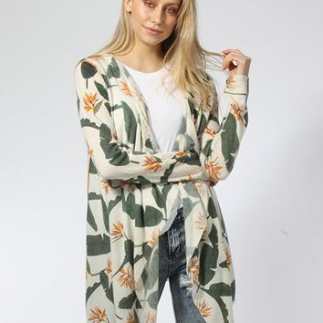 Birds of Paradise Open Cardigan