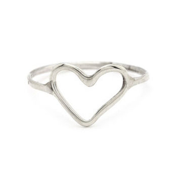 Sterling Silver Keep an Open Heart Ring