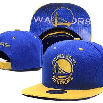 Golden State Warriors New Era and Mitchell and Ness Snapback Hats
