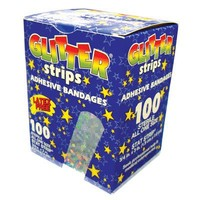 Sheer Strip ,3/4x3, Glitter Strips, Box/100