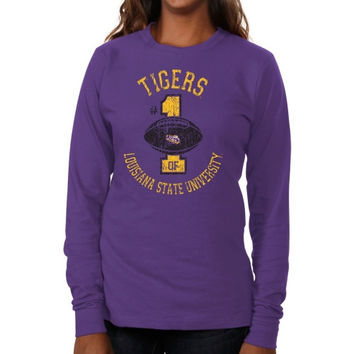 LSU Tigers Ladies Genuine Article Long Sleeve Slim Fit T-Shirt - Purple