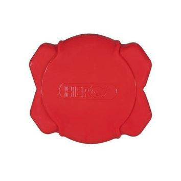"""HERO Soft Rubber Squeaking Field Red Disc Dog Toy 7"""""""