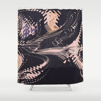 Static Shower Curtain by duckyb