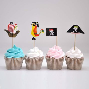 60-Count Pirate Theme Cupcake Toppers