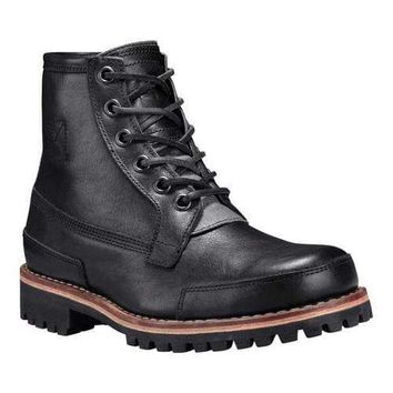 Men's Timberland LTD Leather Boot Black Full Grain Leather