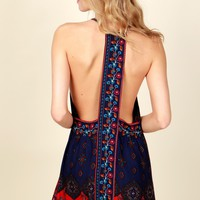 Parts Of Paisley Print Dress Navy