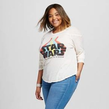 Women's Plus Star Wars® Retro Graphic 3/4 Tee - Freeze : Target