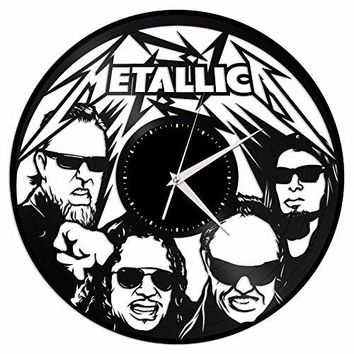 VinylShopUS - Metallica Vinyl Wall Clock Music Bands and Musicians Themed Retro Decor