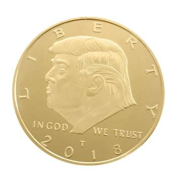 Hot Sale US President Donald Trump Inaugural Golden EAGLE Commemorative Novelty Coin Fancy Normal Gold Plated Coin
