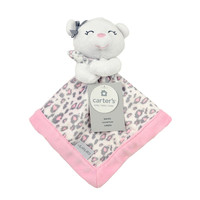 Carter's Pink Bear Security Blanket with Plush