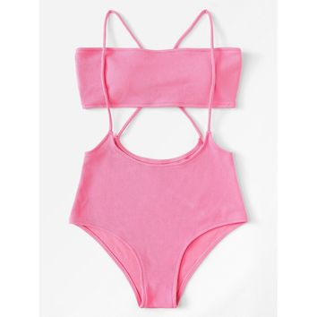 Criss Cross Two Piece Swimwear