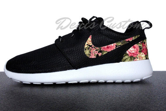 Nike Roshe Run One Black with Custom Pink from DenisCustoms on a4df7dba7