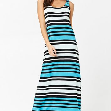 Striped Colorblock Maxi Dress