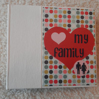 6x6 Family PreMade Scrapbook Photo Album