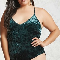 Plus Size Velvet Bodysuit