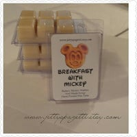 Mickey Waffle Wax Tarts-Breakfast with Mickey Wax Melt- Waffles and Maple Syrup scented- Disney Inspired Scented Wax Tart- Wax melts-