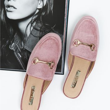 Billini Rose Velvet Olivia Slides