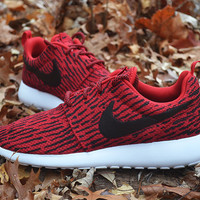 Custom Red Nike Roshe Run