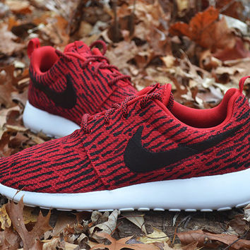 Custom Red Nike Roshe Run from UnleashedKustoms on Etsy  fe6afe21e