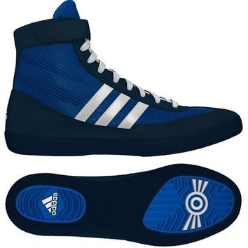 ADIDAS COMBAT SPEED 4 WRESTLING SHOES - BLUE