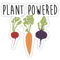 'Plant Powered - Vegan' Sticker by SparksGraphics