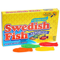 Assorted Swedish Fish King Size Packs: 12-Piece Box