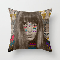 JANE Throw Pillow by Kris Tate | Society6
