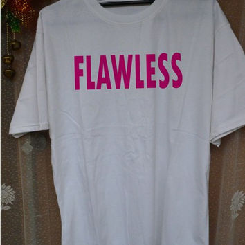 Flawless Beyonce TShirt Tee Shirts Black and White For Men and Women Unisex Size by killinmeinside