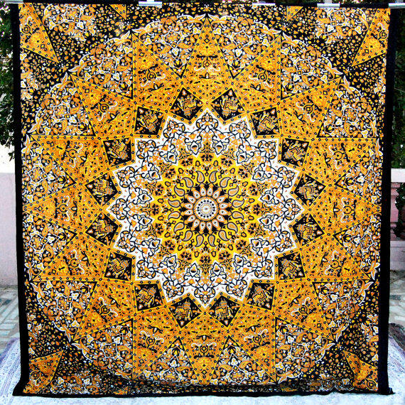 Psychedelic Star Mandala Tapestry Wall From Craftjaipur On
