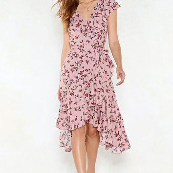 Leaf It Be Floral Dress