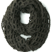 Open to Anything Circle Scarf in Pavement | Mod Retro Vintage Scarves | ModCloth.com