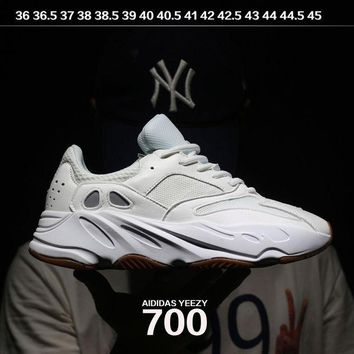 VON3TL Sale Kanye West x Adidas Calabasas Yeezy Boost 700 Runner Sport Shoes Running Shoes White